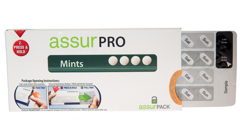 AssurPro with cannabis infused mints